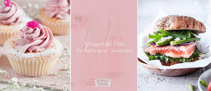 Food in Millennial Pink